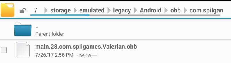 Valerian obb file full path