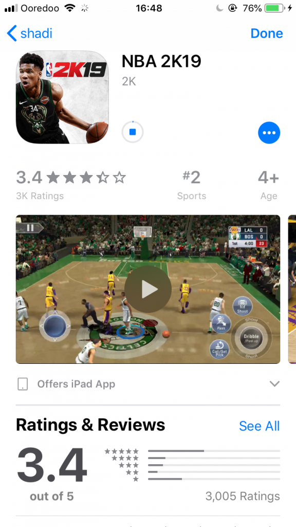 iOS NBA 2K19 free download